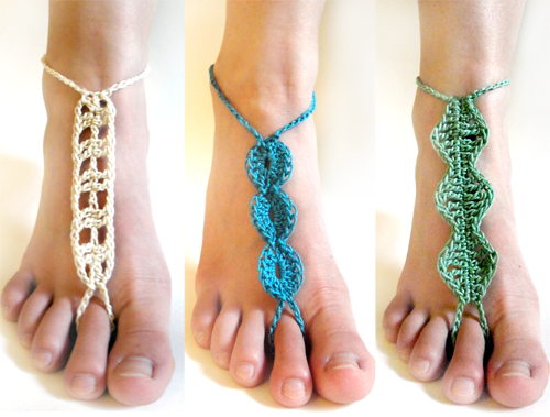 Crochet Spot Blog Archive 30 Off Barefoot Sandal Set Crochet
