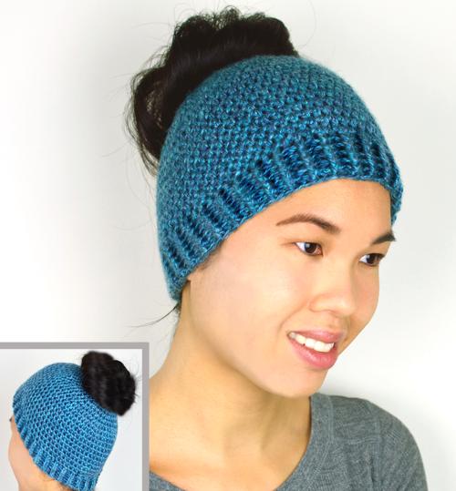 Crochet Spot Blog Archive 30 Off Bun And Ponytail Hat Crochet