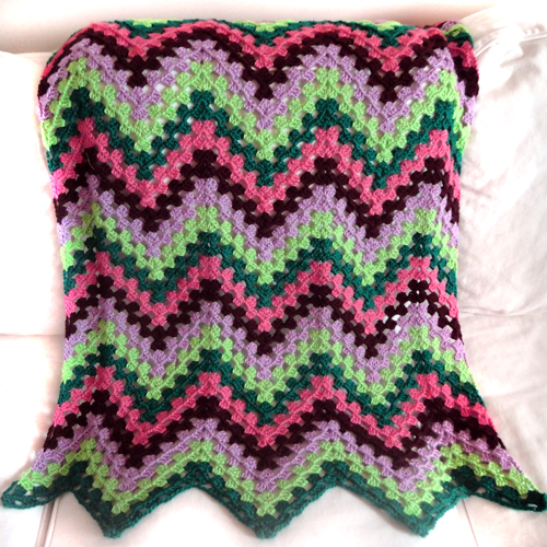 Crochet Stitches Granny Ripple : Granny Ripple Blanket - $4.95 Login to Shop