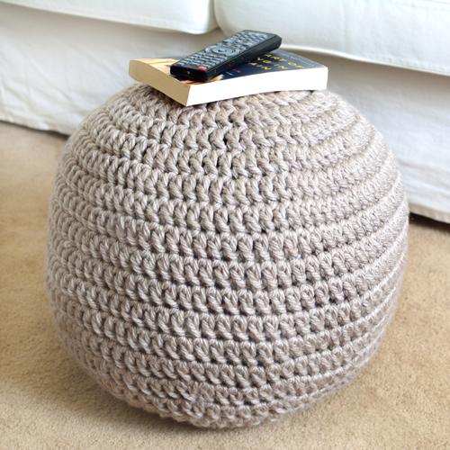 Crochet Spot Blog Archive 30 Off Easy Adjustable Pouf Ottoman
