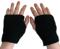 crochet mens fingerless glove