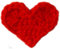 crochet heart-fridgie