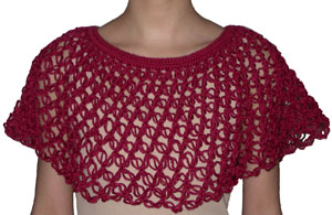 Crocheted Shrug --Lover's Knot (short tutorial+reference link