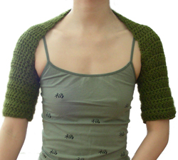 LM0233 Crochet Shrug - Sewing, Needlecraft, Thread, Textile