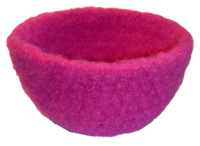 crochet felted bowl