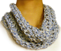 CROCHET PATTERN Cowl Infinity Loop Circle Scarf by PATTERNSbyFAIMA