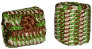 tunisian crochet wristwarmers