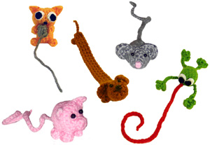 crochet animal bookmarks
