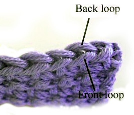 crochet front and back loops