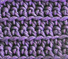 crochet front loop only