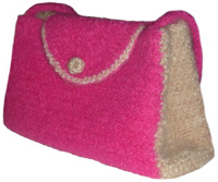 crochet felted purse