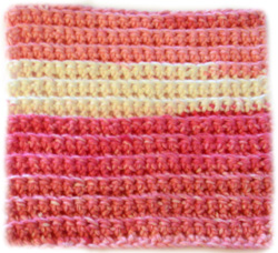 crochet ridge dishcloth