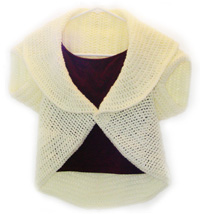 Cabled Tie Front Bolero PATTERN by sillylittlelady on Etsy