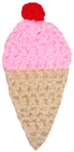 crochet ice cream cone