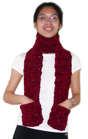 Knit & Crochet Pocket Scarves LW1521 | Free Patterns | Yarn