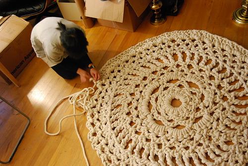Crochet Spot Blog Archive Giant Doily Rug Crochet Patterns