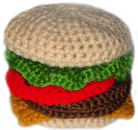 crochet hamburger