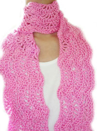 crochet pretty lady scarf
