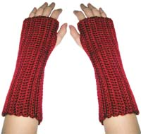 crochet beginner wrist warmers