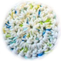 crochet facial cleaning pad