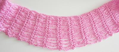 crochet spider scarf