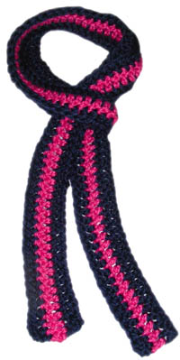Aesthetic Nest: HOH in Crochet: Skinny Scarf (Pattern)