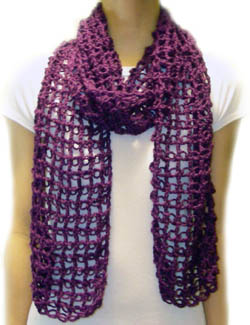 The Sunroom: Man's Easy Striped Scarf - Crochet