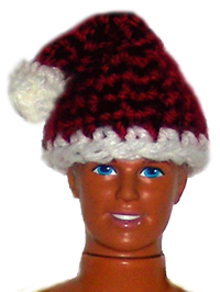 Victorian Santa Hat - CrochetKim.com - Free crochet patterns