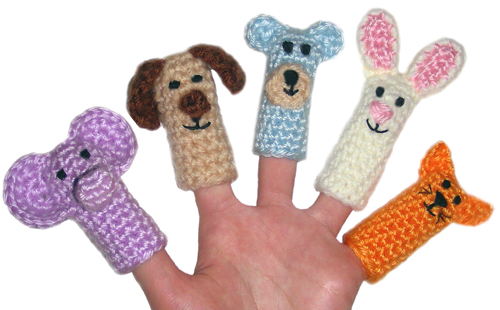 Crochet Spot Blog Archive Crochet Pattern Animal Finger Puppets