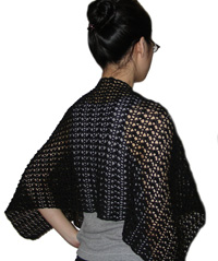 Lace shawl - Learn how to crochet