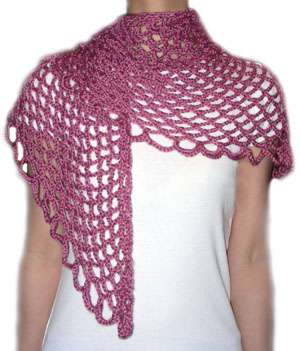 Pineapple Lace Shawl Crochet Pattern from Caron Yarn | FaveCrafts.com