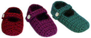 crochet baby mary jane slippers