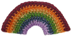 crochet rainbow applique