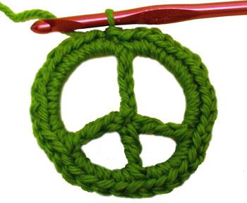 Crochet Spot Blog Archive Crochet Pattern: Peace Sign ...