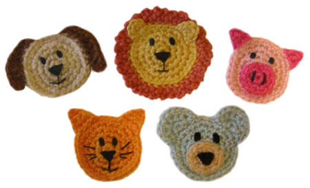Crochet Kitten Applique Free Pattern - KarensVariety.com