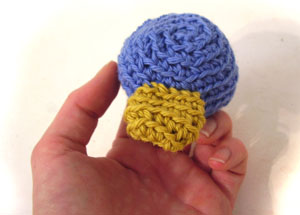 sew amigurumi parts together