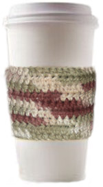 crochet coffee cup sleeve
