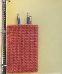 crochet binder pouch