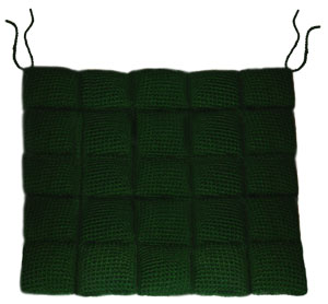 crochet chair cushion