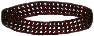 crochet checkered headband