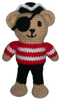 crochet pirate teddy bear