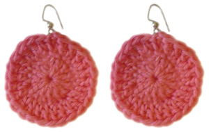 crochet beginner circle earring