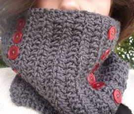 crochet convertible scarf