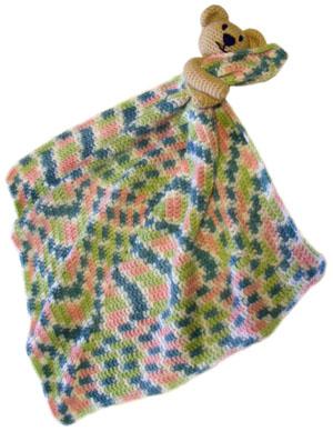 Teddy Bear Granny Square Baby Blanket | 388x300