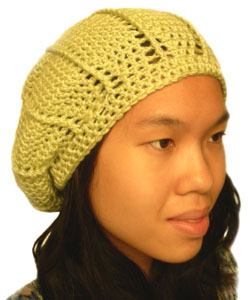 Free Crochet Pattern 40472-1 Copper Tam : Lion Brand Yarn Company