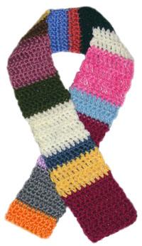 crochet scrap scarf