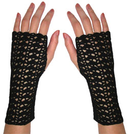 Crochet Lace Gloves - Free Crochet Pattern
