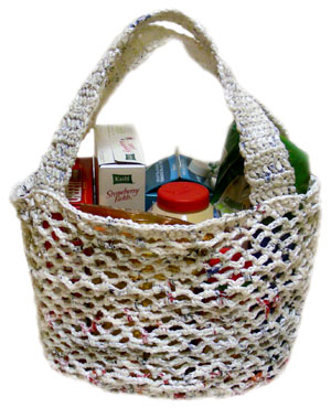 crochet plarn market bag