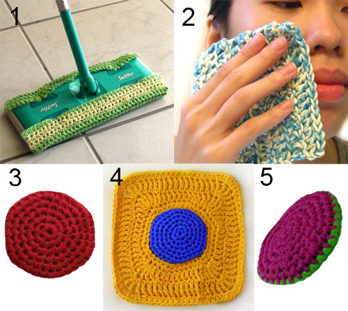 crochet nylon cleaning set