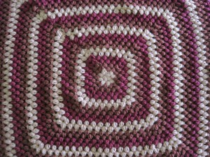 Giant Granny Square Blanket with Clusters